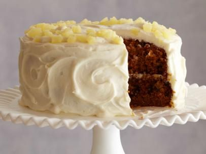 Ina Garten's Carrot and Pineapple Cake #Thanksgiving #ThanksgivingFeast #Dessert