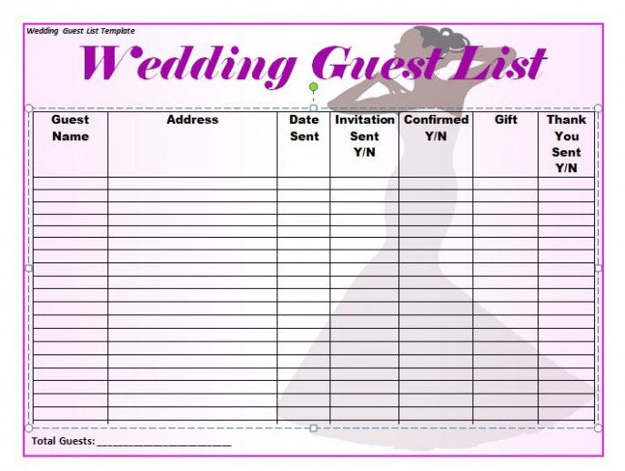 You Will Never Believe These Bizarre Truth Behind Wedding Invitation List Template Wed Wedding Guest List Template Wedding Guest List Wedding Invitation List
