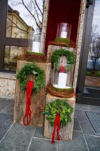 25 einzigartige weihnachtsdekoration f r drau en ideen auf pinterest diy weihnachtsschmuck. Black Bedroom Furniture Sets. Home Design Ideas