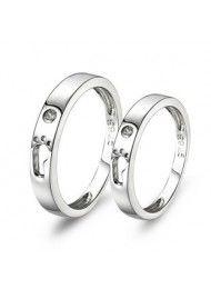Sterling zilveren ringen ringen paar ringen op Valentijnsdag favorieten 0151