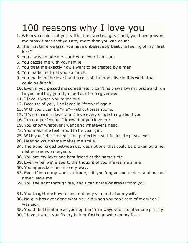 52 things i love about you free template