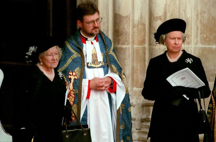 Lady Diana, Princess of Wales Funeral:  September 6, 1997, The Queen Mother and Queen Elizabeth II attend the funeral of Lady Diana, Princess of Wales in Westminster Abbey