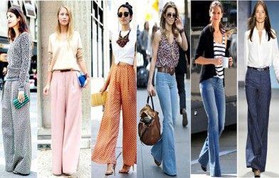 2014 Bol Paçalı Pantolon Modelleri