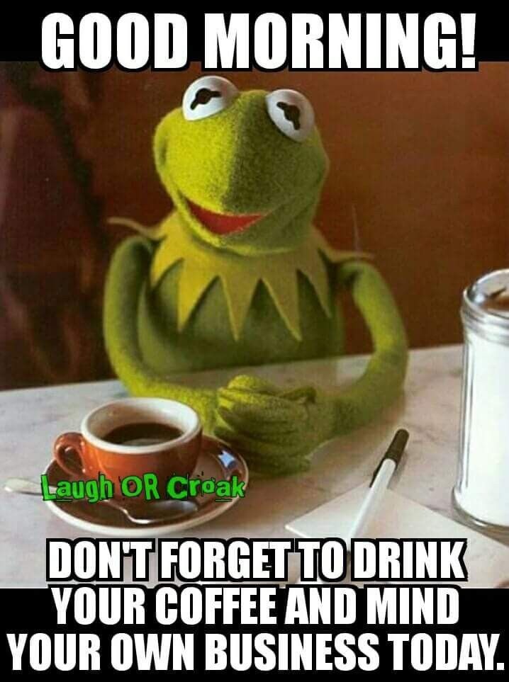 Mind Your Business Meme : business, Coffee, Minding, Business,, Humor,, Morning