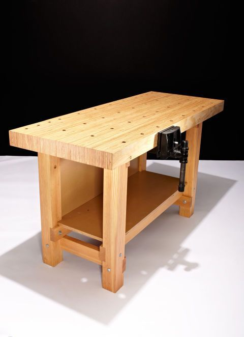 A workbench can be utilitarian and thrown together or it can be beautifully handcrafted.