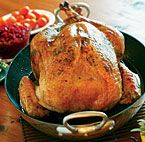 8 Secrets for a Moist & Juicy Roast Turkey  1. Choose a fresh turkey instead of a frozen one.  2. Roast two small turkeys rather than one large one.  3. Brine the turkey.  4. Rub soft butter under the skin.  5. Truss loosely, or not at all.  6. Roast the turkey upside down at first.  7. Don't overcook it.  8. Let the turkey rest before carving.