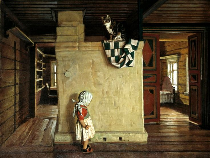 ANOKHIN Nicholas - In an old house Rakitin. 200 Russian painters • download painting • Gallerix.ru