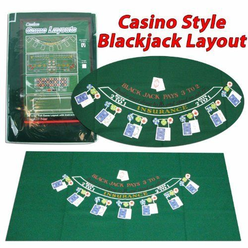 "Trademark Poker Blackjack Layout, 36 x 72 Inch by Trademark Global. $14.44. This New Blackjack felt has a layout for the popular casino game, This New Blackjack felt has alayout for the popular casino game, BLACKJACK or ""21"".. Save 40%!"