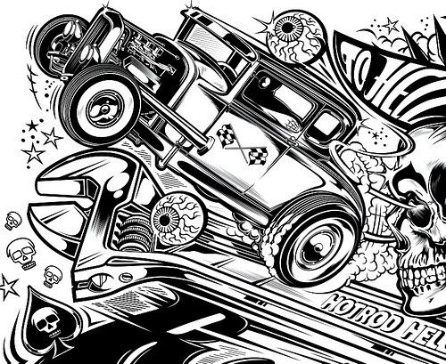 61 best images about coloring hot rod on pinterest cars for Hellcat coloring pages