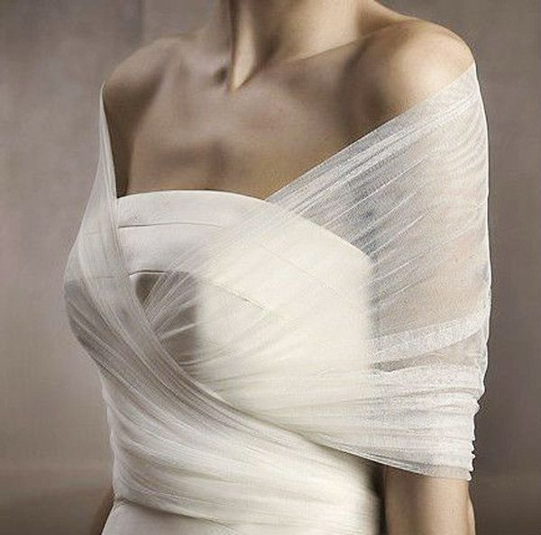 sheer twist wedding dress bolero - brides of adelaide