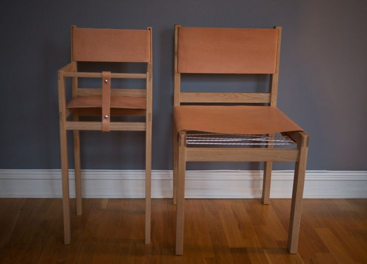 Nordic oak and natural cow leather Baby Chair | NH oslo