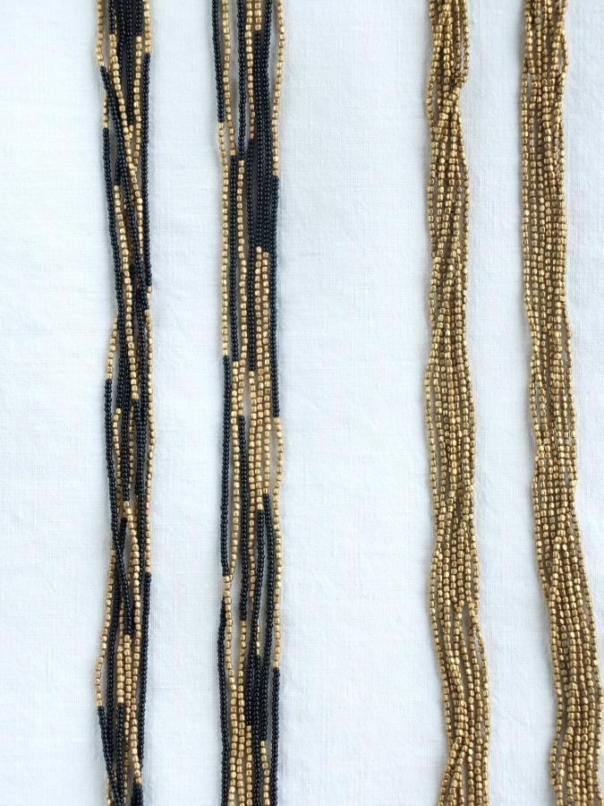 Pack: Long brass + Black glass and brass.