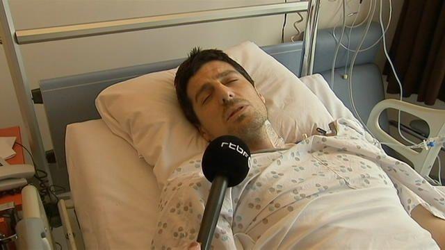 C'est un témoignage bouleversant, celui d'un des survivants de l'attentat contre l'aéroport de Bruxelles. Sebastien Bellin, ex-basketteur professionnel de 38 ans, se trouvait dans l'aéroport lorsque la double explosion est survenue. Il a été gravement blessé à la hanche et à la jambe gauche mais ses jours ne sont plus en danger. Quelques jours après les attentats de Bruxelles, il a décidé de témoigner depuis son lit d'hôpital.