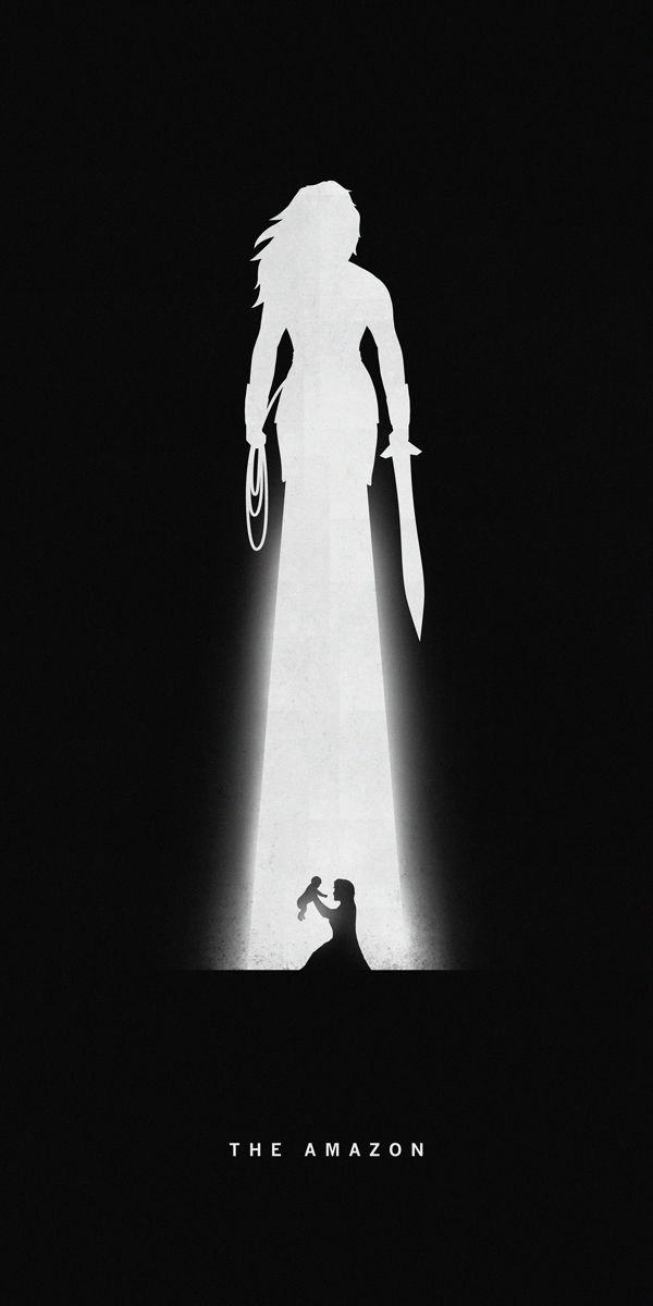 Silhouettes of #Superheroes Reveal Their Past and Present, Wonder Woman. #art #poster