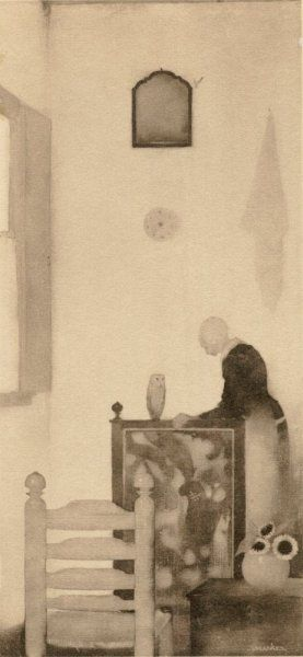 Mother in the room by Jan Mankes 1889-1920 (Holland).jpg
