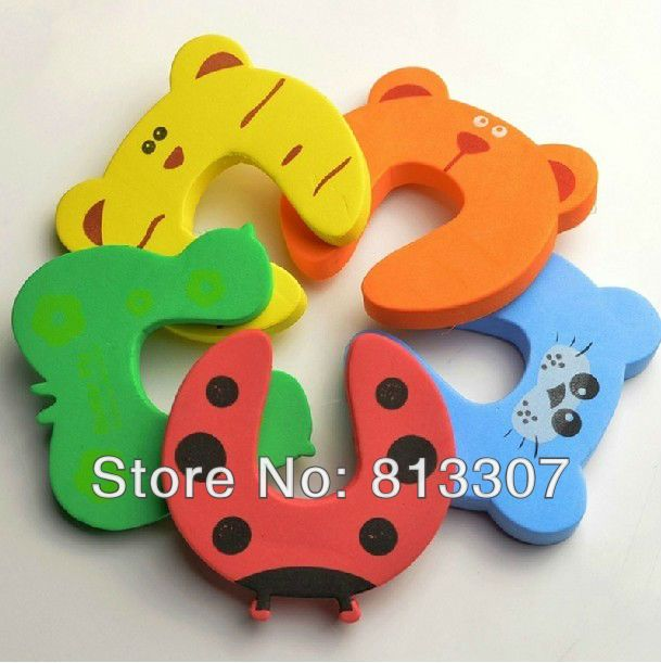 Child kids Baby Animal Cartoon Jammers Stop Door stopper holder lock Safety Guard Finger Protect Free Shipping 20Pcs/Lot $6.07