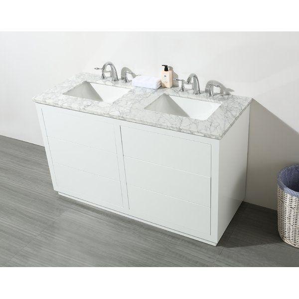 Double Sink Bathroom Vanity, 56 Bathroom Vanity Double Sink