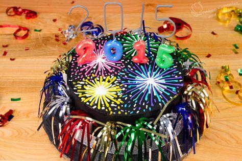 Fireworks New Year's Cake