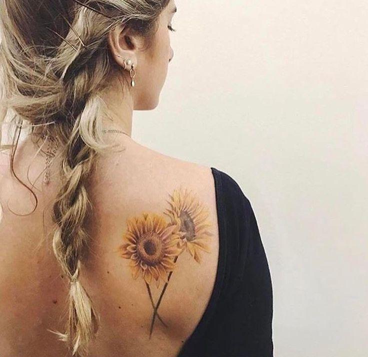 No outline flower tat