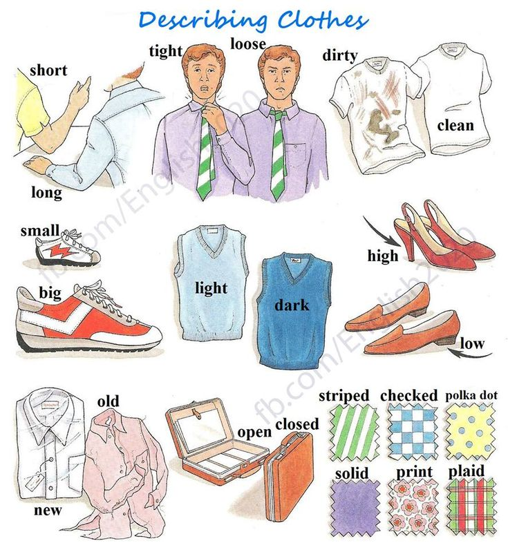 Forum | ________ Learn English | Fluent LandVocabulary: Describing Clothes | Fluent Land