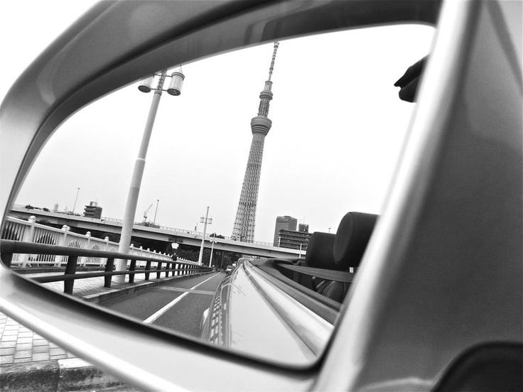 Tokyo Sky Tree in a mirror