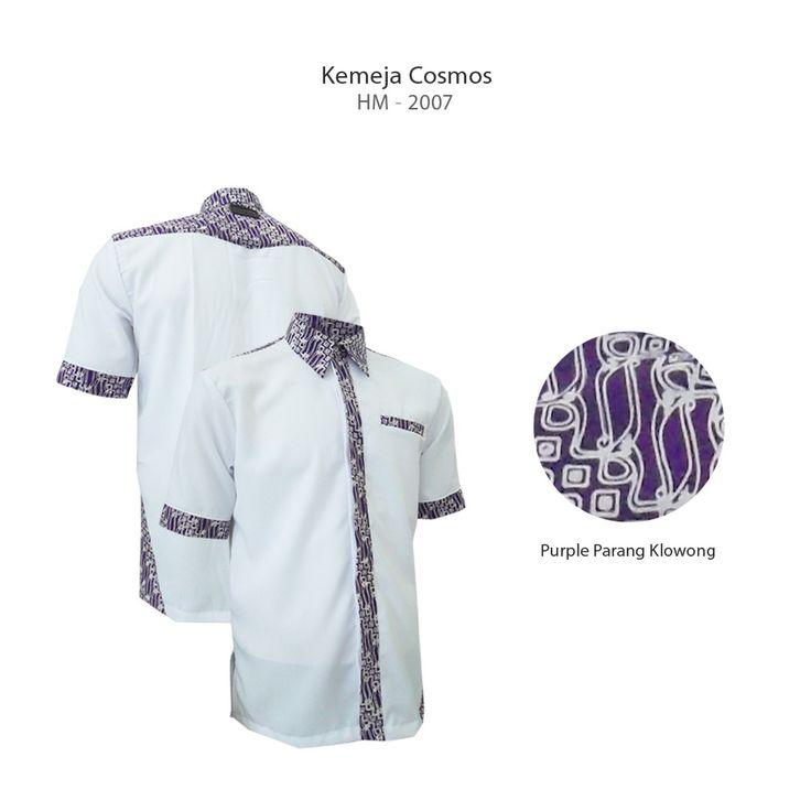 White - Purple Parang Klowong  #kemejabatikmedogh  http://medogh.com/baju-batik-pria/kemeja-batik-pria/Kemeja-Batik-Optimus-Series-Kemeja-Cosmos-HM-2007