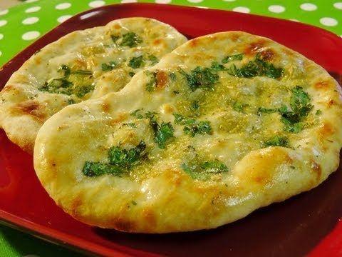 Naan Bread Recipe by Manjula, Indian Vegetarian Gourmet - YouTube