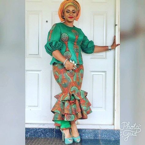 In many Nigeria ceremonies the choice fabric can either be lace or Ankara... Today we would be bringing you fabulous Ankara aso ebi styles