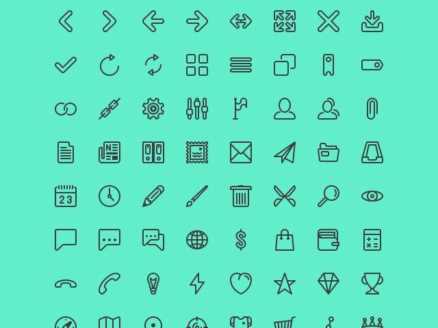 12 Free High-Quality Line Icon Sets
