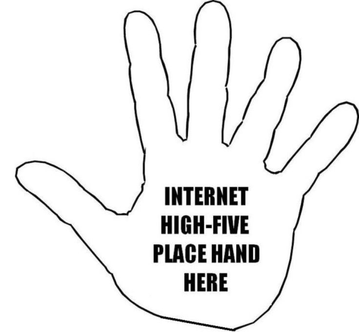 Image result for internet high five