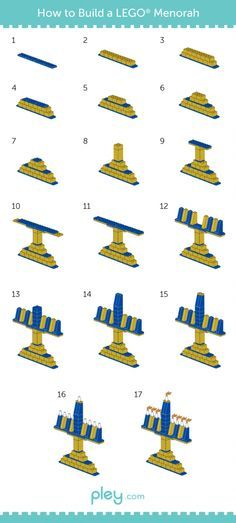 LEGO How-to Build: Menorah and Dreidel