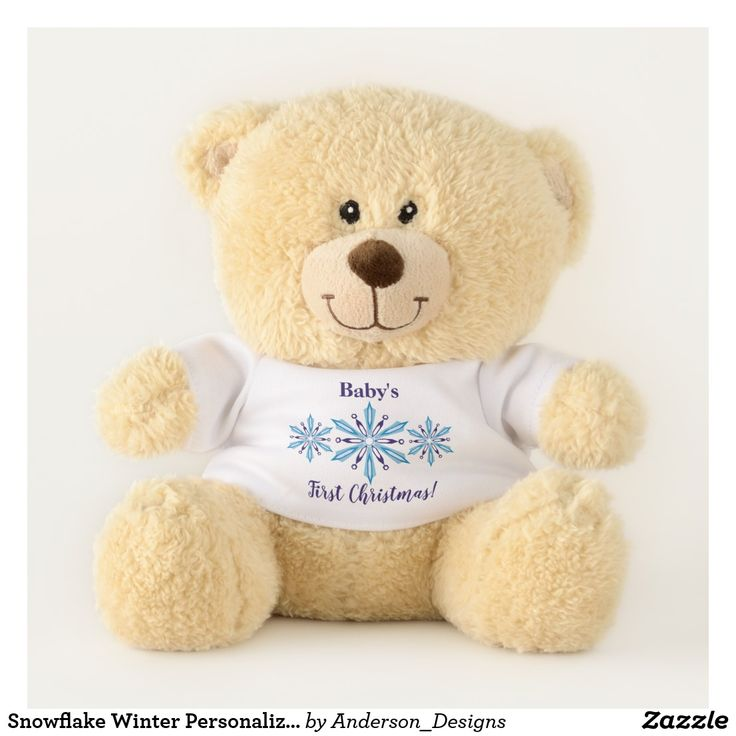 Snowflake Winter Personalized First Christmas Teddy Bear
