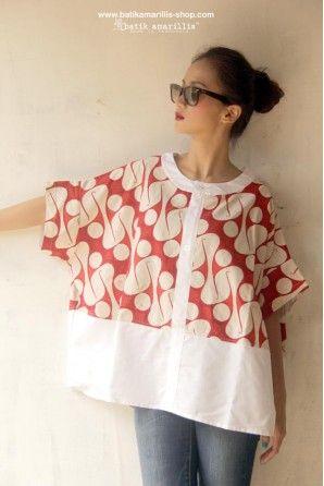 batik amarillis's breezy blouse