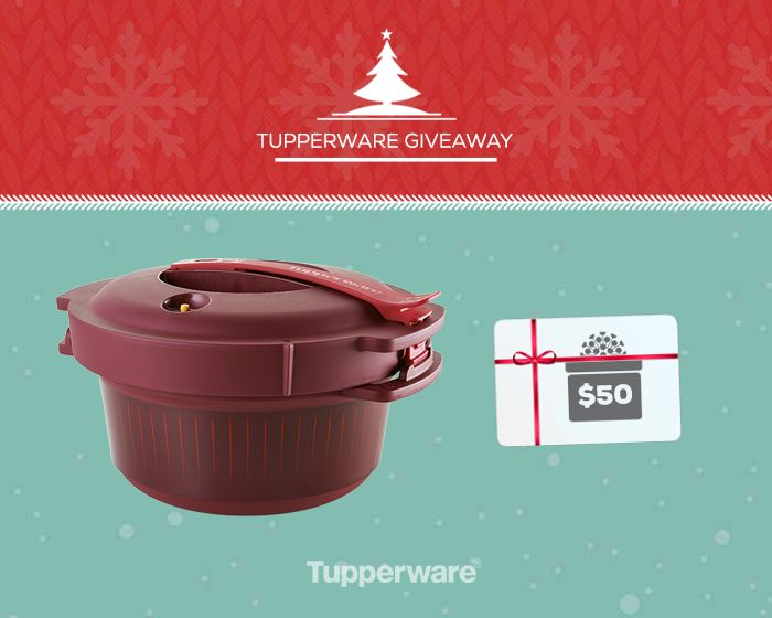 Increase your odds of winning our new Microwave Pressure Cooker or a $50 Tupperware eGift Certificate by sharing.