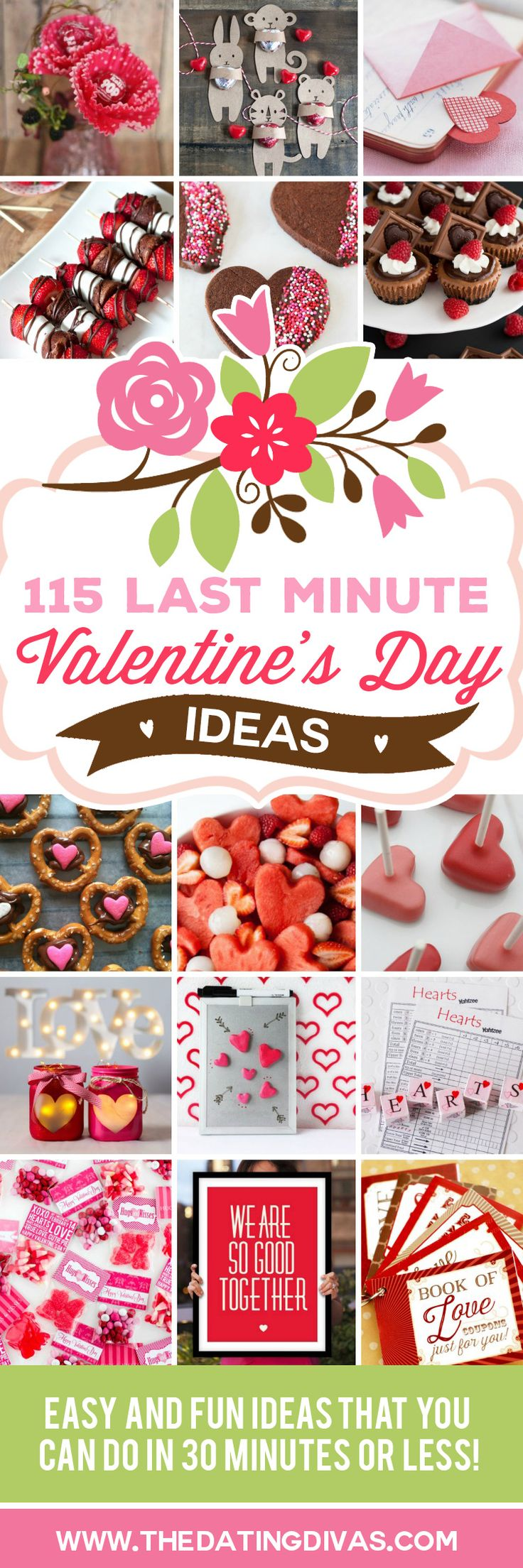 So much inspiration! These ideas are all so quick and easy. This Valentine's Day is going to rock!! www.TheDatingDivas.com