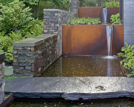 Probably too modern for our house but lovely flowing water feature.