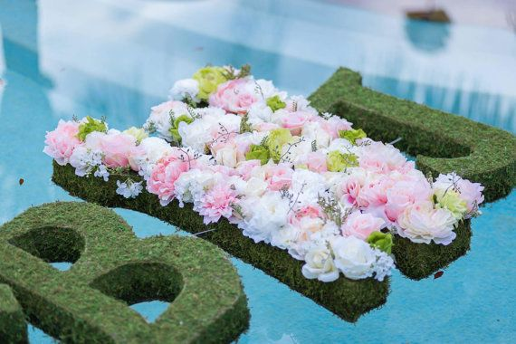 DIY Floating pool letters-wedding monograms by DesignsbyDazey