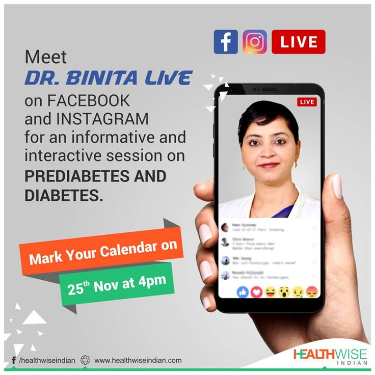 Meet Dr. Binita LIVE on #Facebook and #Instagram for an informative and interactive session on PreDiabetes and #Diabetes. Take note: 25th Nov at 4pm we will be LIVE for an insightful session.