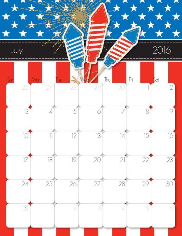 Calendar 2016 Printable on Pinterest | Printable stickers, Printable ...