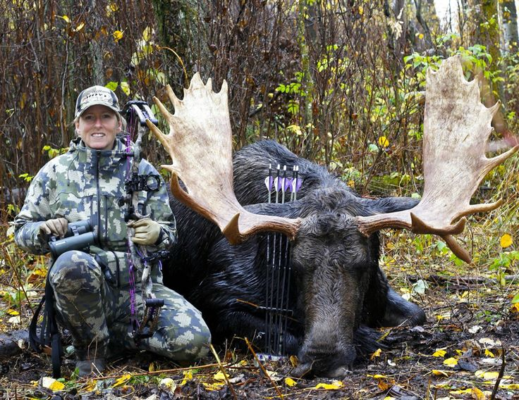 Heather Wilson and her 2016 Alberta archery bull moose.