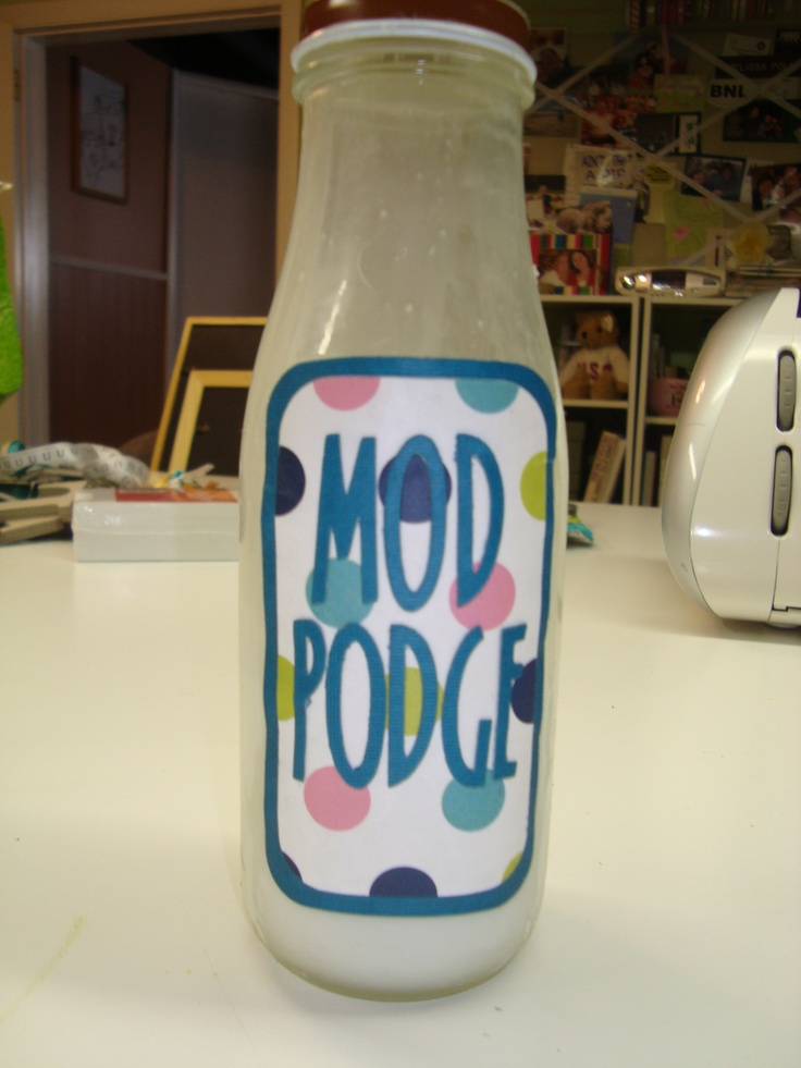 The easiest craft supply to make....MOD PODGE!! In the store it is $5-$8, homemade it is about $1!! It is simply a mixture of 50% water + 50% glue (plain old Elmer's school glue is what she uses...& Dollar Tree has it for 2/$1).