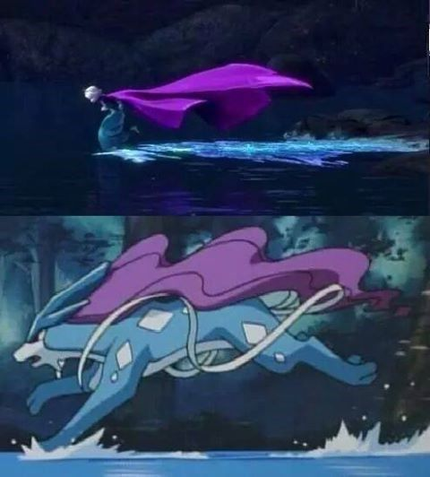 Dammit, I should have noticed this first!! I put Suicune in her Pokeroster, but not in the main picture because it seemed that even the mightiest, most elite gym leader queen might not have a Legendary...but eff that, huh?!? XD