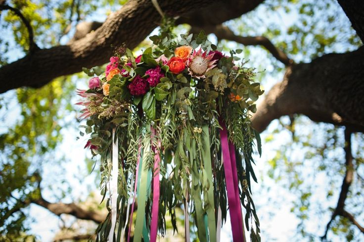 Amy and Aaron were married on a beautiful spring day under the oak tree at the…