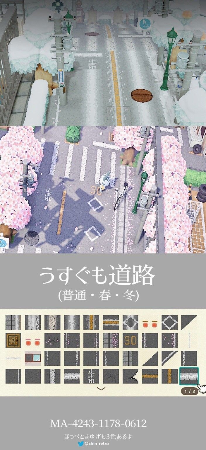 Road With Cherry Blossoms In 2021 Animal Crossing Wild World Animal Crossing New Animal Crossing
