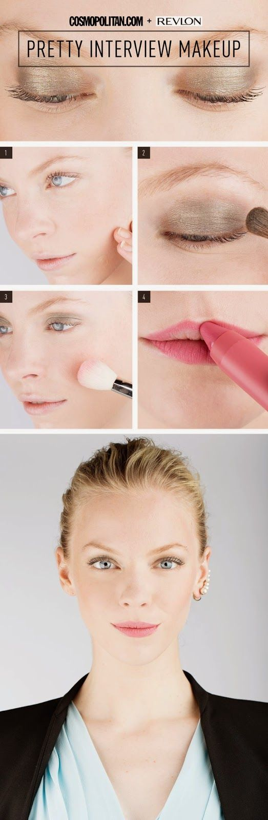Pretty Interview Makeup | Makeup artist Gigi Shaker shows you exactly how to create the perfect interview look that's pretty yet professional.| FormalHealth