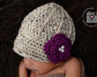 Crochet Newborn baby girl newsboy hat visor brim hat crochet Newborn photo props photography boy-Made to order