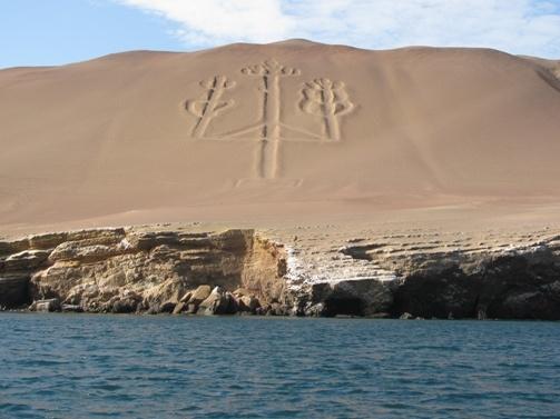 Nazca . Tridente de paracas