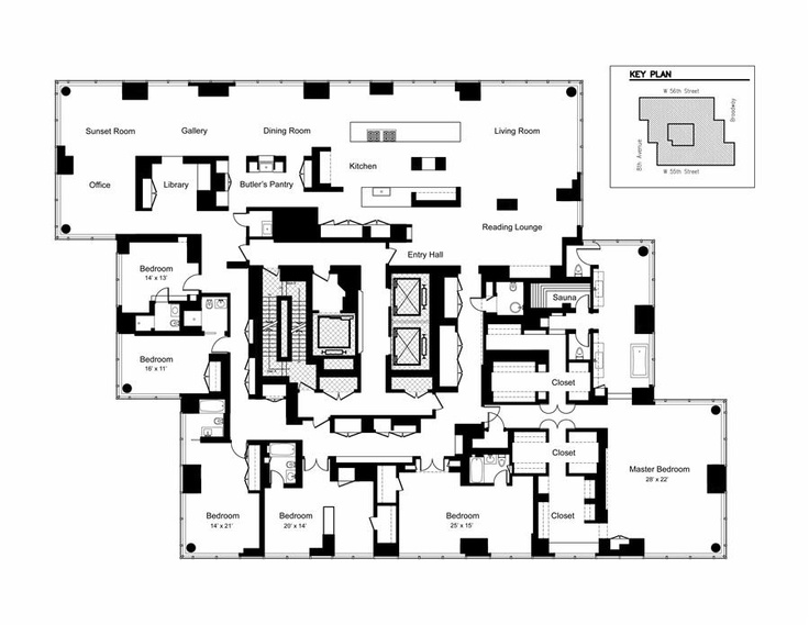 53 best plans images on pinterest apartment floor plans midtown nyc sauna malvernweather Images