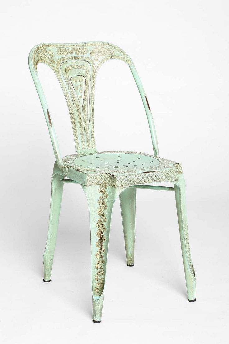 Magical Thinking Industrial Chair - Urban Outfitters #gold #mint