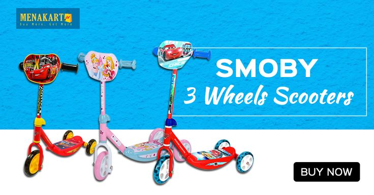 Shop for Smoby - Cinderella 3 Wheels Scooter Online#Kids #Scooter #Smoby #Online #Shopping #Menakart